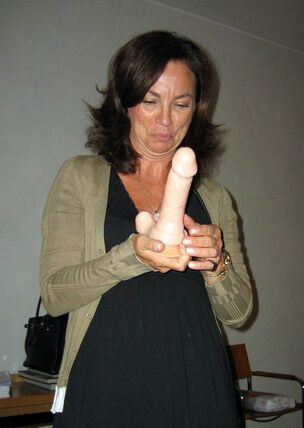 Dick and dildo in pussy
